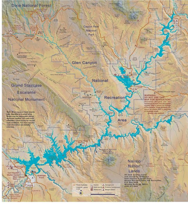 Lake powell map from commons 2