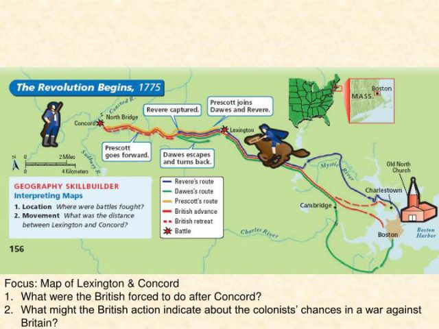 Lexington And Concord Map