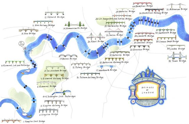 London bridge map from londonist 1