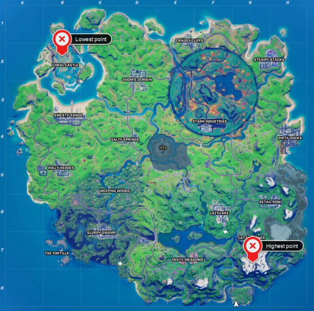 Lowest Point On Fortnite Map