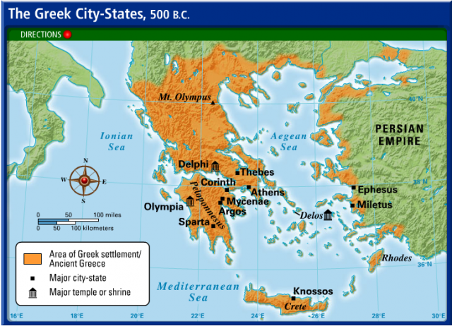 Map Of Ancient Greece City States