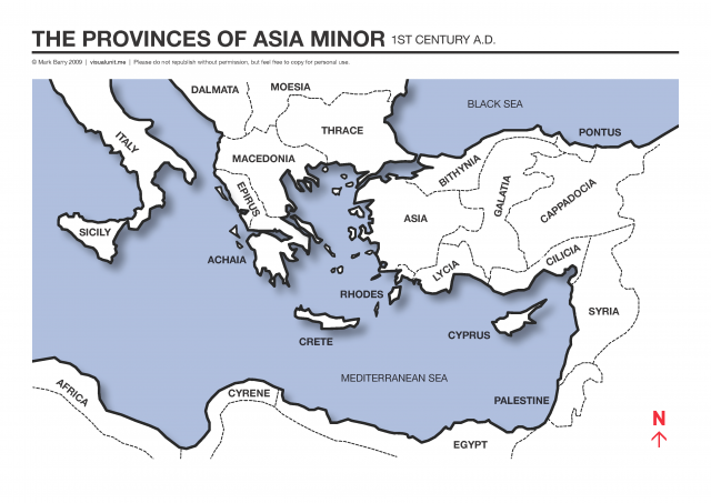 Map Of Asia Minor