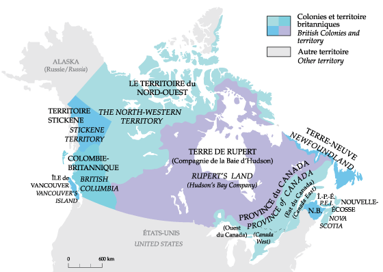 Map Of Canada In 1862