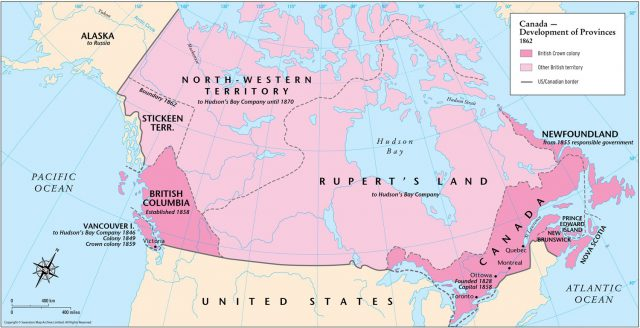 Map of canada in 1862 from themaparchive 1