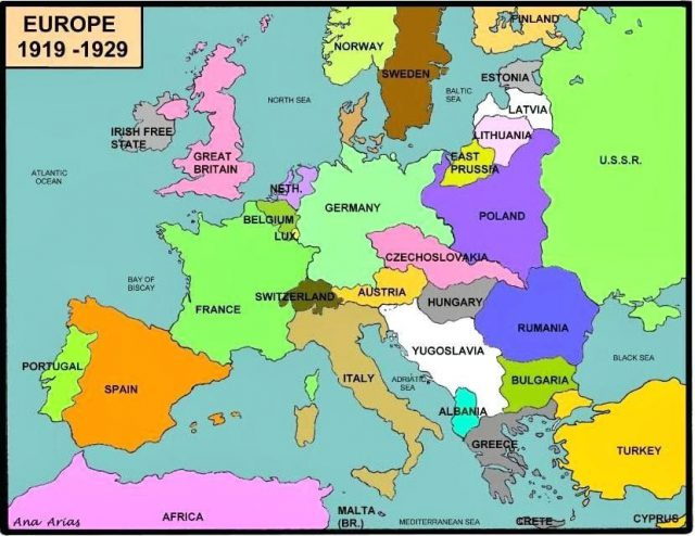 Map Of Europe During Ww2
