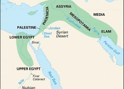 Map Of The Fertile Crescent: Map of the fertile crescent from britannica 2