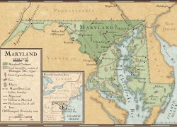 Maryland Colony Map: Maryland colony map from nationalgeographic 1