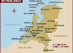 Netherlands map europe from lonelyplanet 6