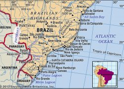 Paraguay River Map: Paraguay river map from britannica 1