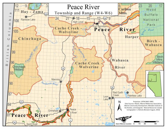 Peace River Map