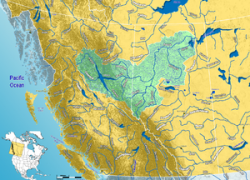 Peace River Map: Peace river map from en 1