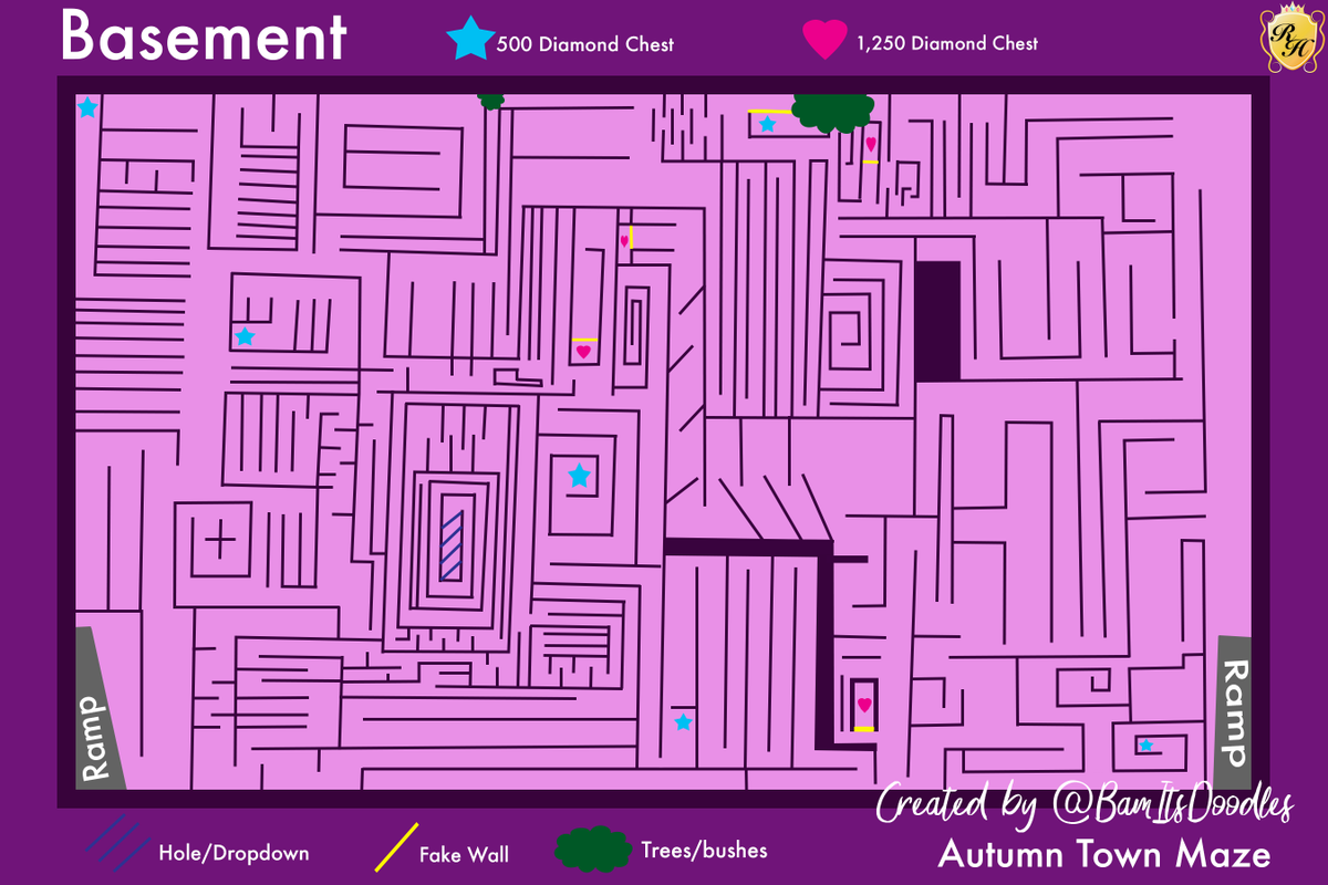 Royale High Maze Map First Floor From Twitter 6