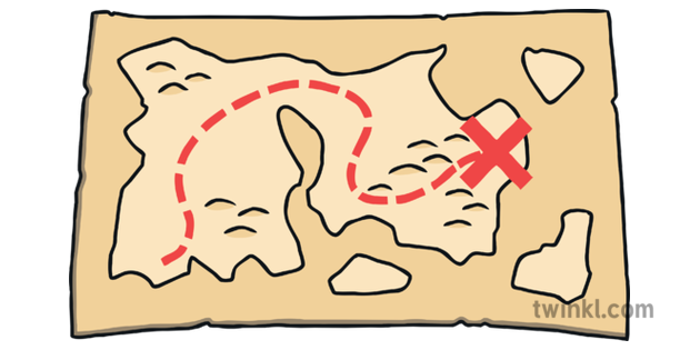 Simple treasure map from twinkl 1
