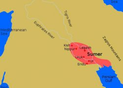 Sumerian civilization map from ducksters 9
