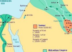 Sumerian map from researchgate 7