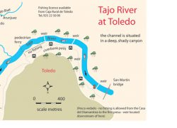 Tagus river map from spainfishing 9