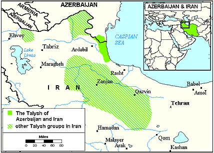 Talish map from joshuaproject 1