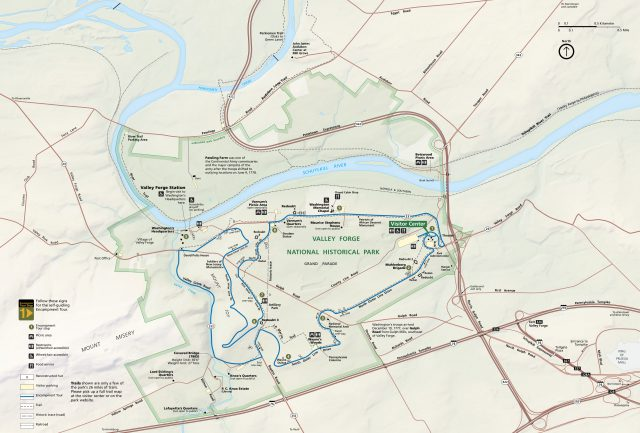 Valley Forge Map
