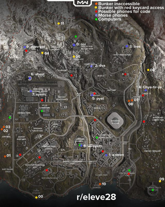Warzone Easter Egg Map