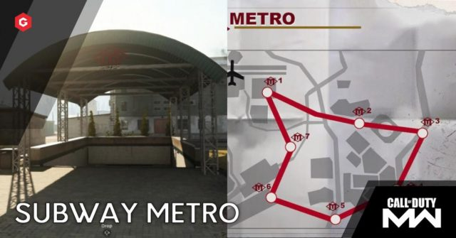 Warzone Metro Stations Map