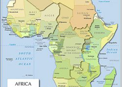 Africa map with capitals from nationsonline 2
