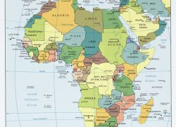 Africa map with capitals from pinterest 10