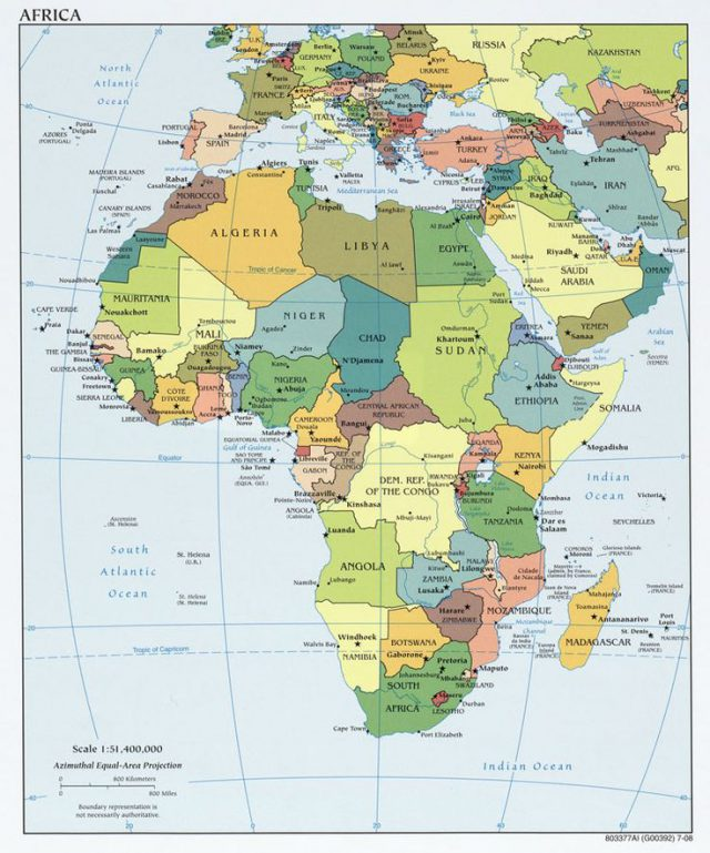 Africa Map With Capitals