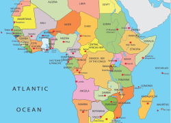 Africa map with capitals from pinterest 5