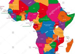 Africa map with capitals from shutterstock 9
