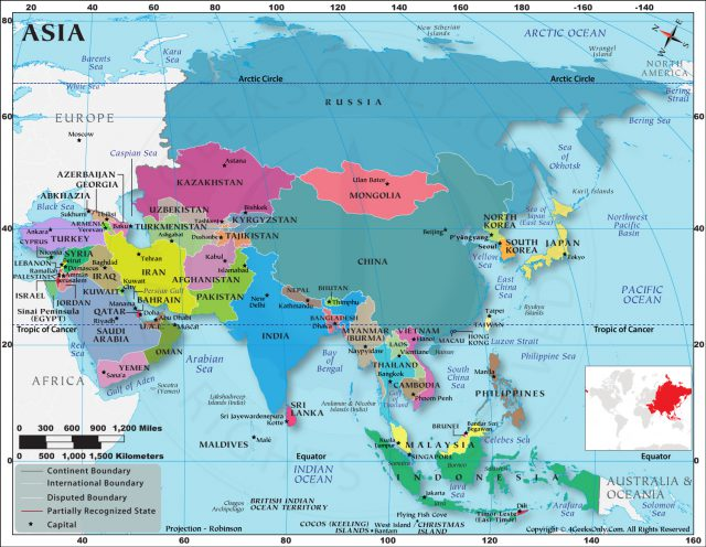 Asia map hd from 4geeksonly 1
