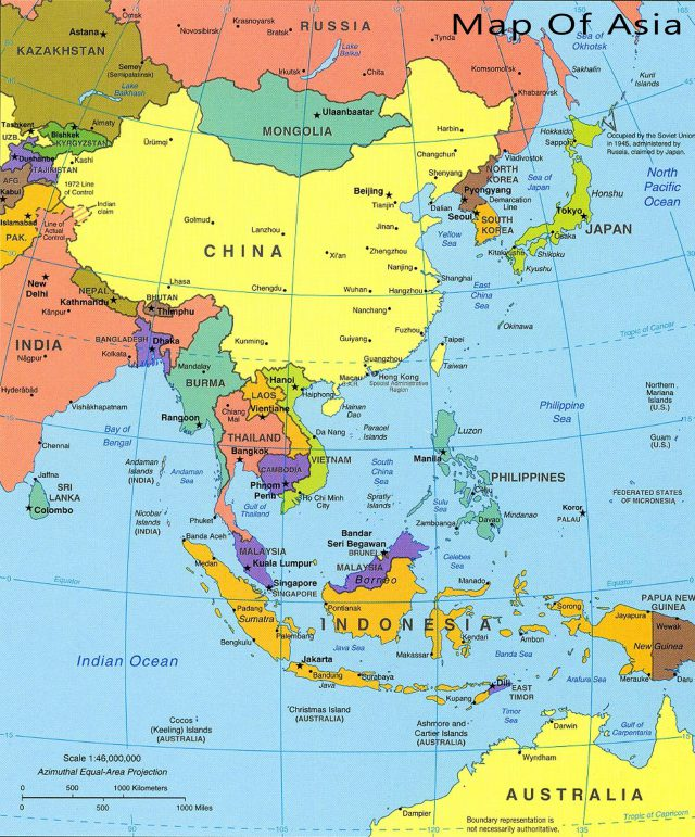 Asia Map Hd