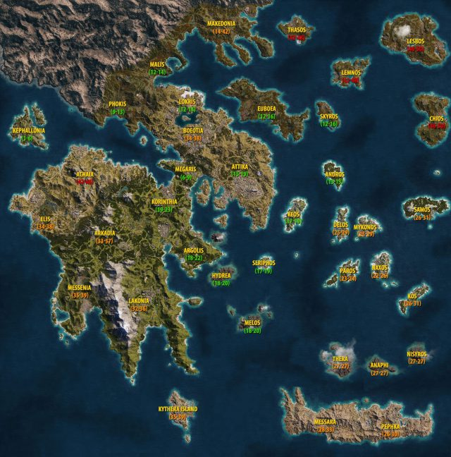 Assassins creed odyssey map from guides 1