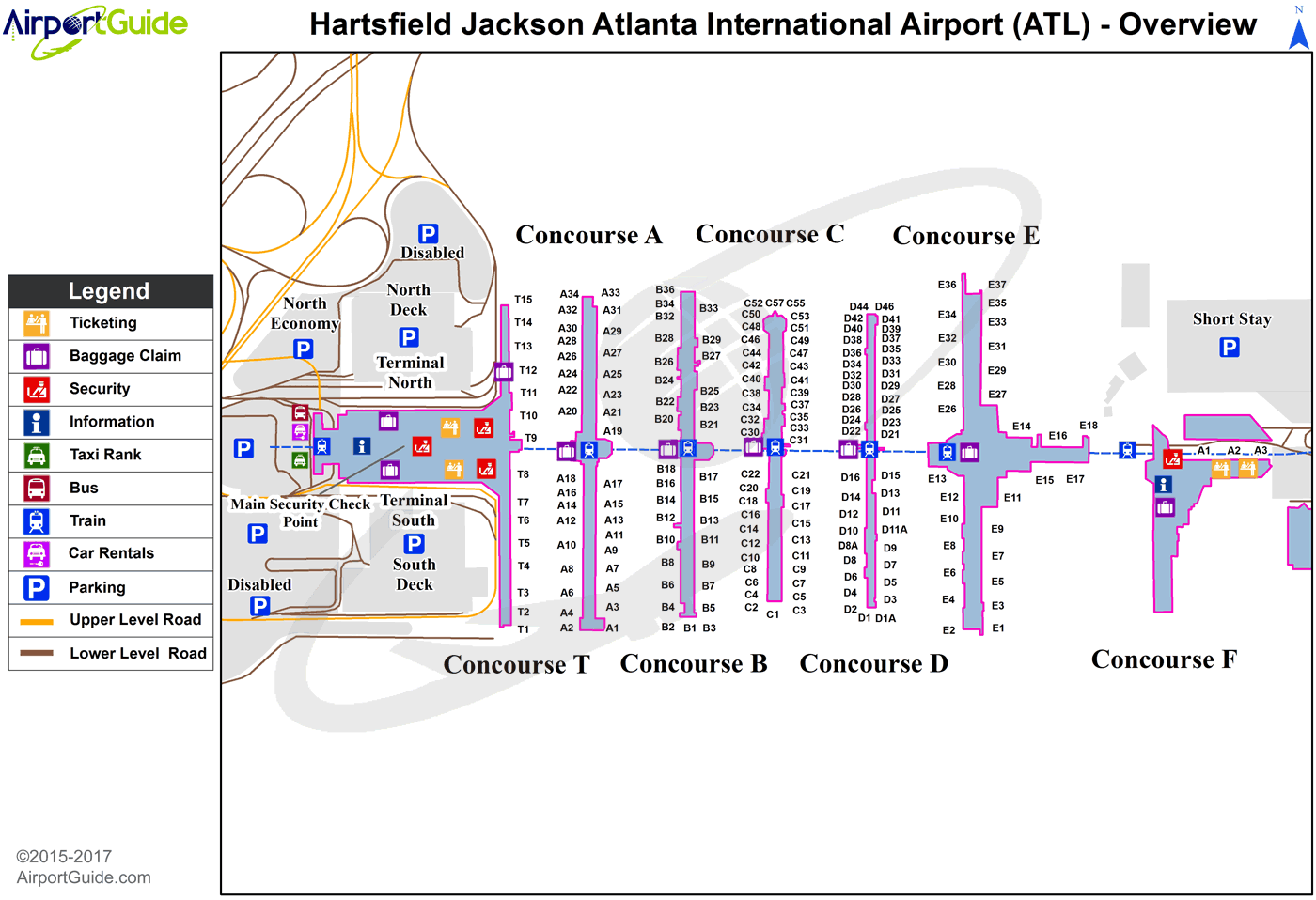 Atlanta Airport Map From Pinterest 1