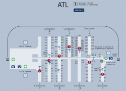 Atlanta airport map from pinterest 3