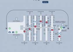 Atlanta airport map from pinterest 9
