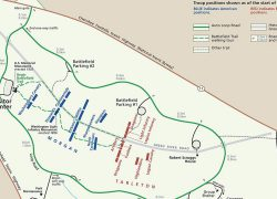 Battle of cowpens map from npplan 9