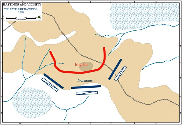 Battle Of Hastings Map