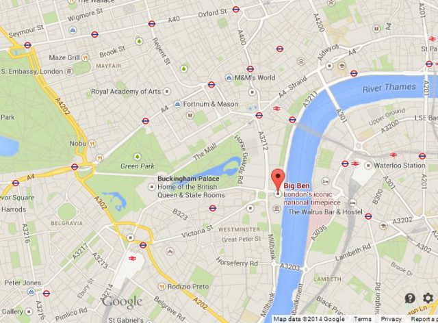 Big ben london map from worldeasyguides 1