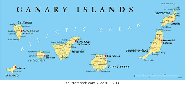 Canary Islands Map