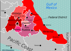 Central Mexico Map: Central mexico map from en 1
