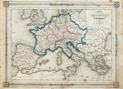 Charlemagne empire map from geographicus 3