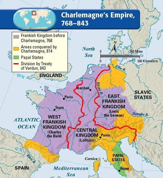 Charlemagne Empire Map