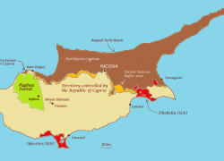 Cyprus map from a maverick 10