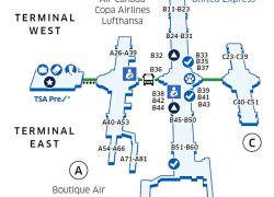Denver Airport Map: Denver airport map from united 1