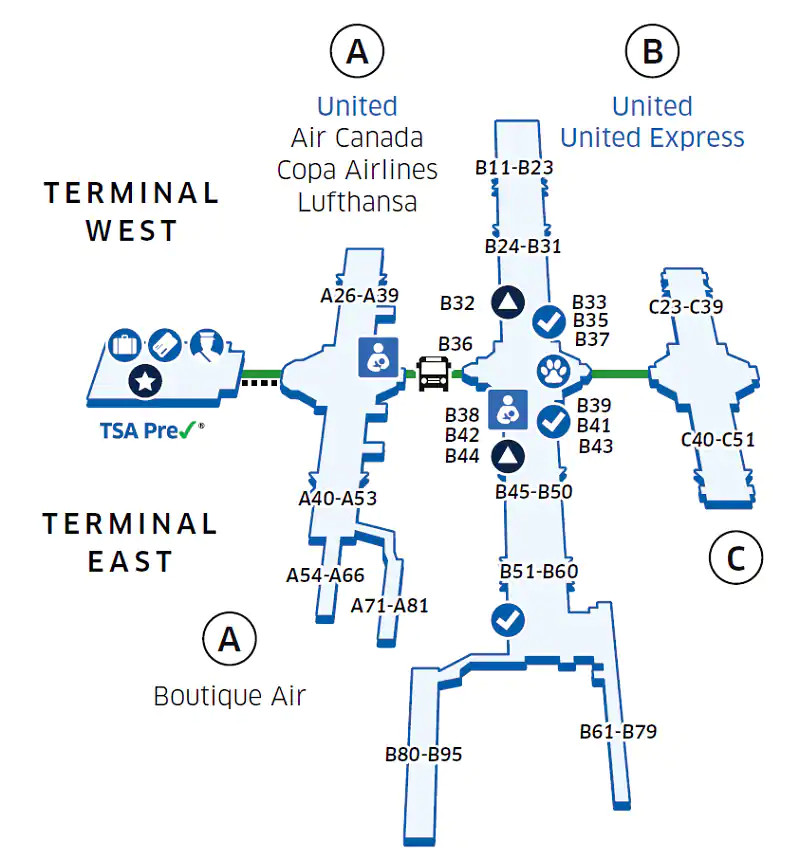 Denver Airport Map From United 1