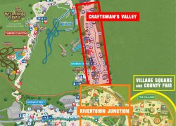 Dollywood map from insiders 2
