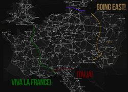 Euro truck simulator 2 map from guides 4