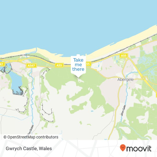 Gwrych castle map from moovitapp 1