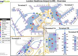 Heathrow airport map from maps london 7