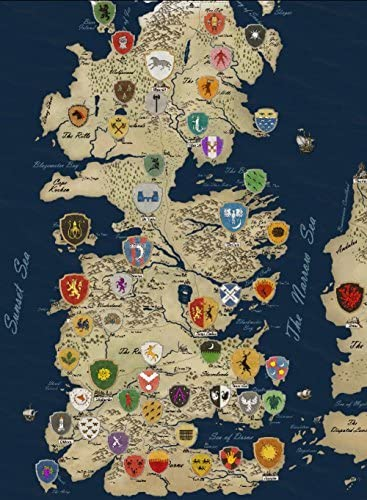 Houses Of Game Of Thrones Map